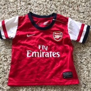 ⭐️Nike Baby Arsenal Jersey Soccer Shirt Kit Red